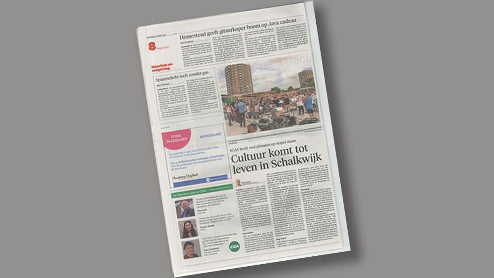 Haarlems Dagblad – 21 03 2018 – Homestead geeft gitaarkoper boom op java cadeau